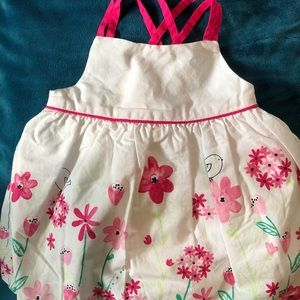 NEW 0-3 MONTHS FLOWER SPRING DRESS